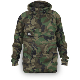Loose Riders Fleece Anorak Men, forest camo